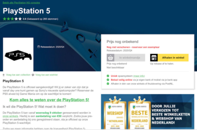 Pre-order PlayStation 5 early on this one obscure website 7
