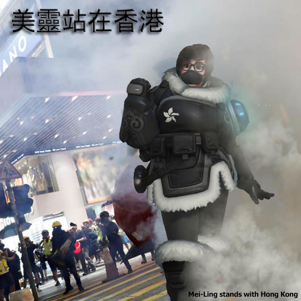 Hong Kong protesters turn Overwatch's Mei into freedom symbol following Blizzard's protest censorship 3