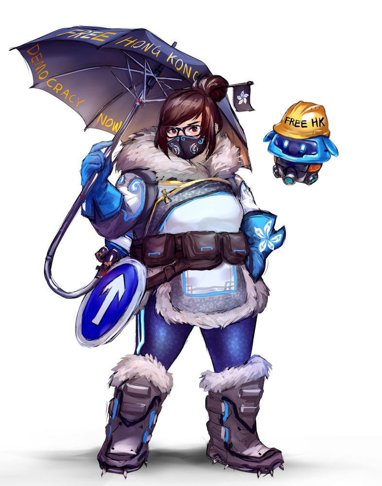 Hong Kong protesters turn Overwatch's Mei into freedom symbol following Blizzard's protest censorship 6