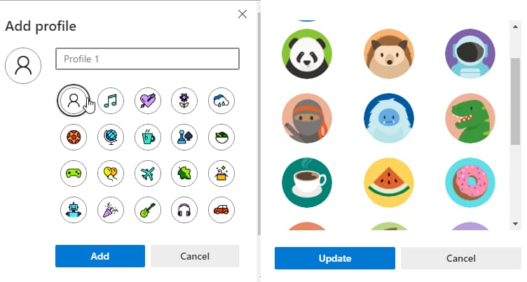 Microsoft Edge Canary gets 20 new profile pictures and tab freezing feature 1