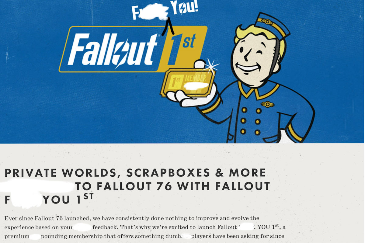 Fallout 76 membership has caused the MMO to erupt into a class war 1