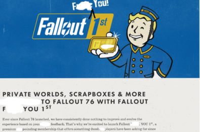 Bethesda didn't register the Fallout First domain, but an angry fan did 5