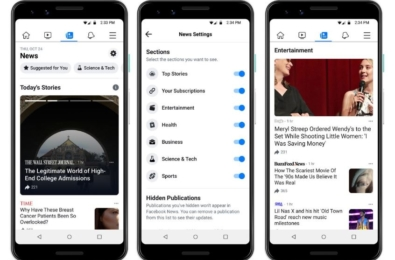 Meet Facebook News, a dedicated place for news on Facebook 3