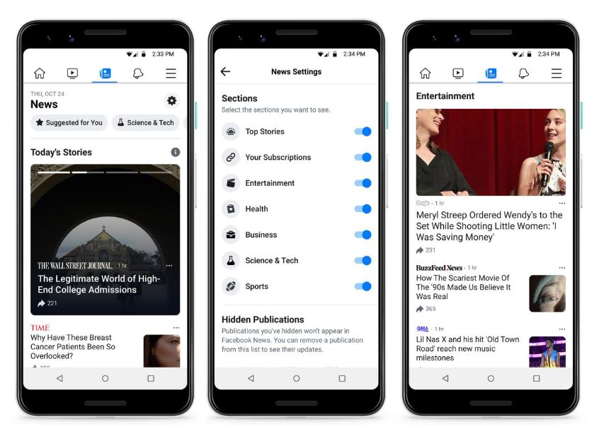 Facebook tests curated news service, pays some media outlets