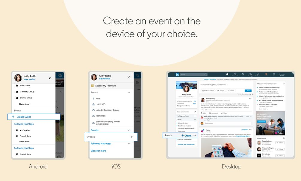 New LinkedIn Events allows you to easily create and join professional events 1