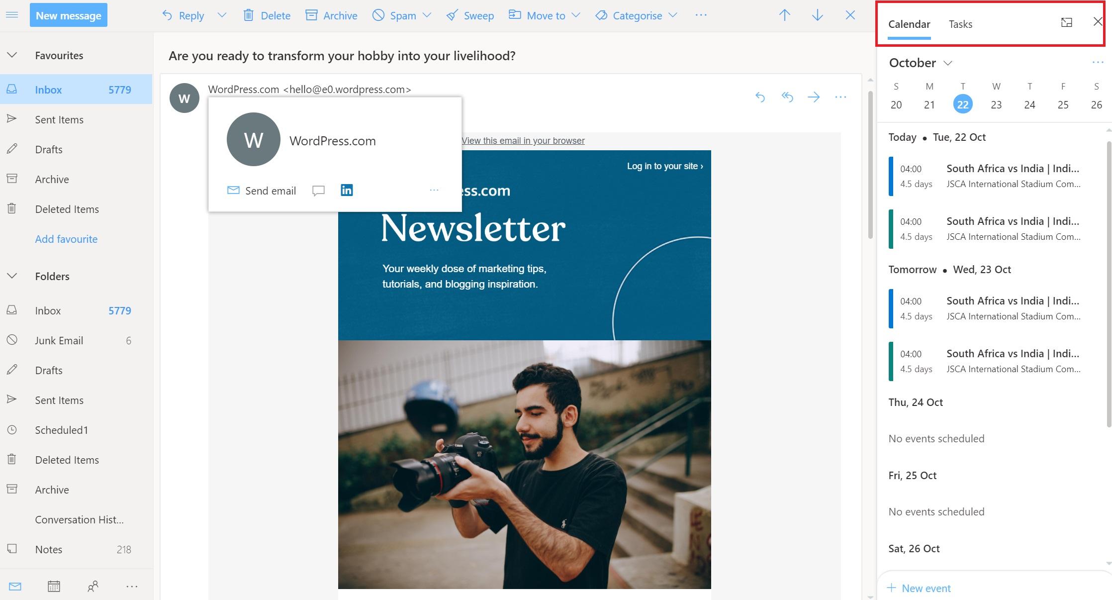 Outlook.com gets Calendar and To Do integration 1