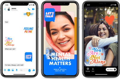 Facebook adds new stickers and filters in support of Mental Health Day 14