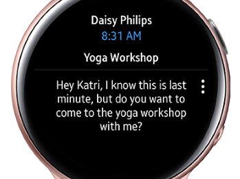 Microsoft brings its Outlook app to the Samsung Galaxy Watch 1