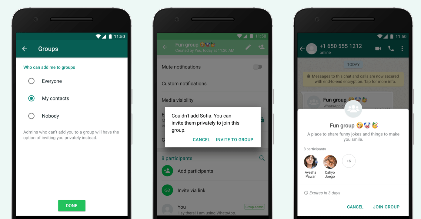 WhatsApp's latest update lets you block contacts from adding you to groups