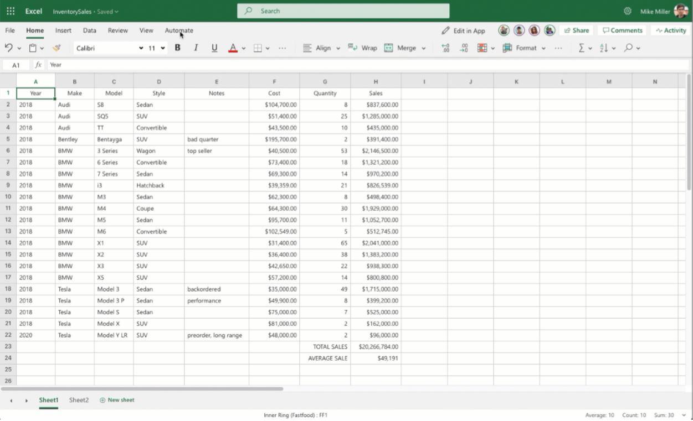 Excel Office Scripting.