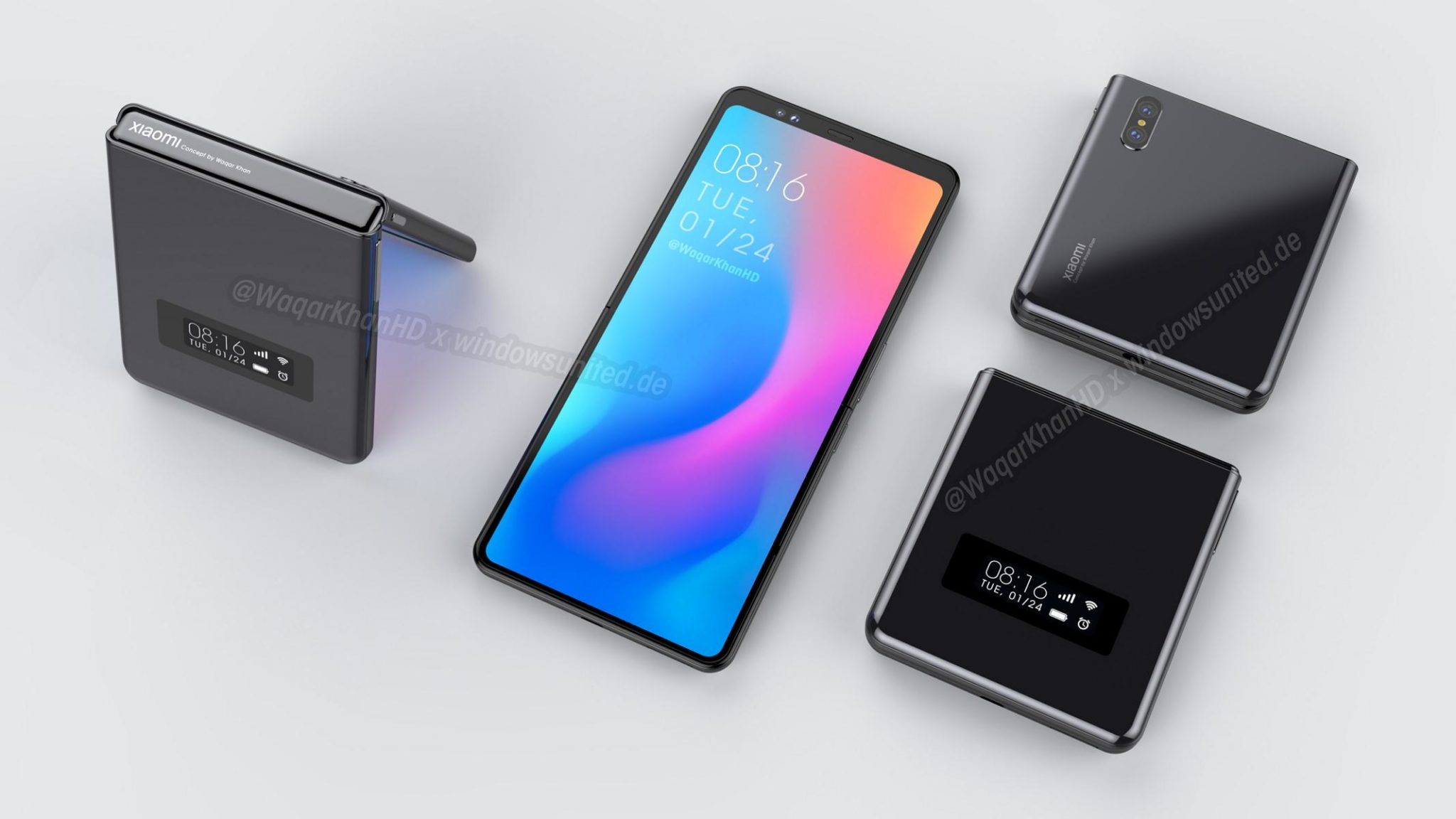 Xiaomi's unannounced clamshell foldable phone comes to life in a new design concept 6
