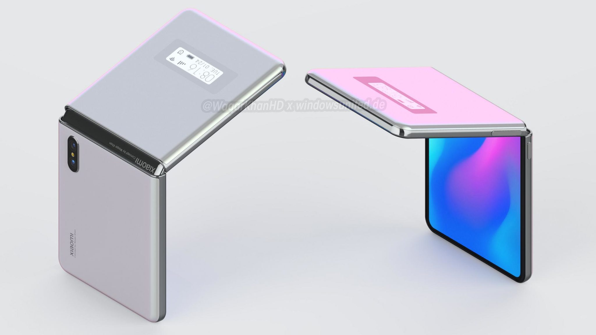 Xiaomi's unannounced clamshell foldable phone comes to life in a new design concept 4