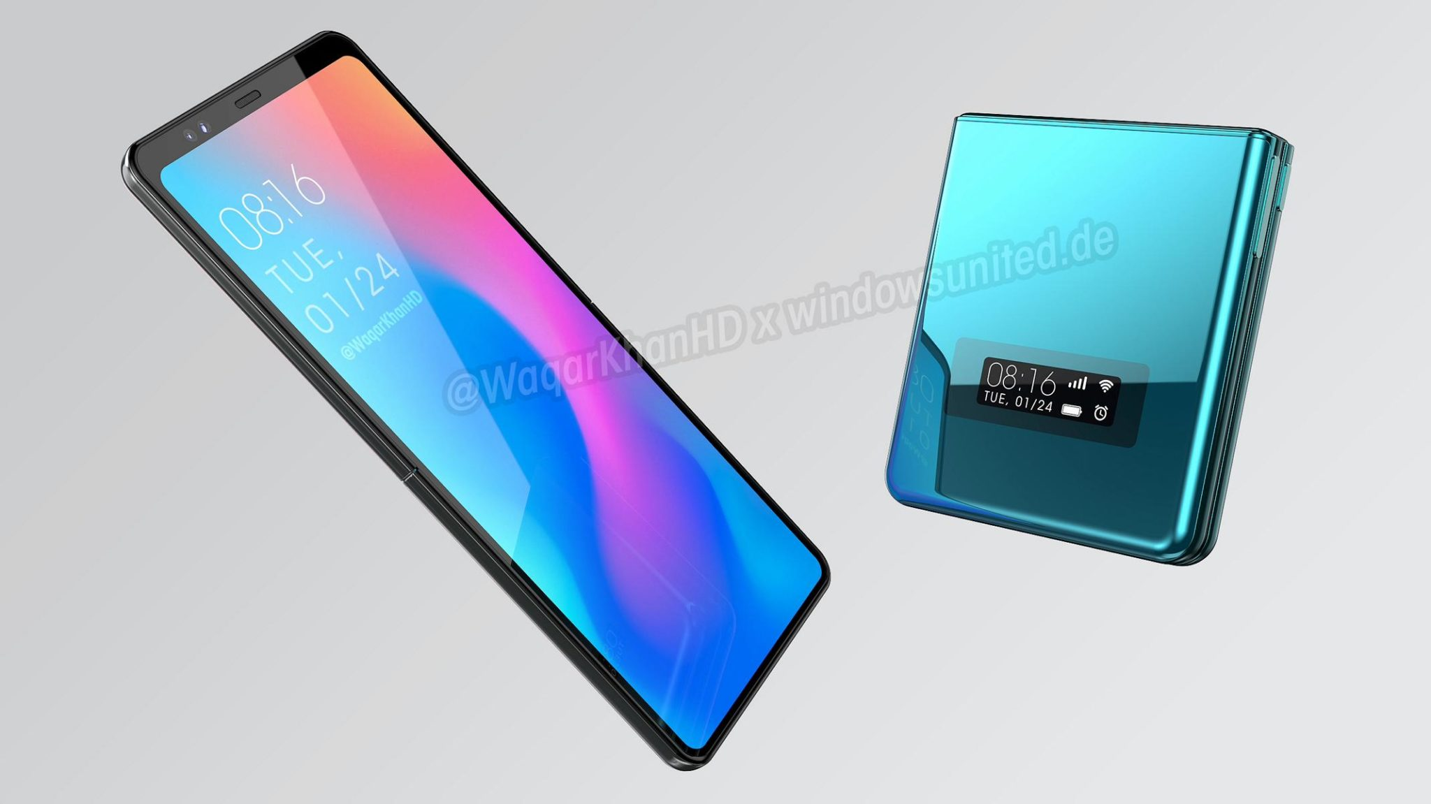 Xiaomi's unannounced clamshell foldable phone comes to life in a new design concept 5