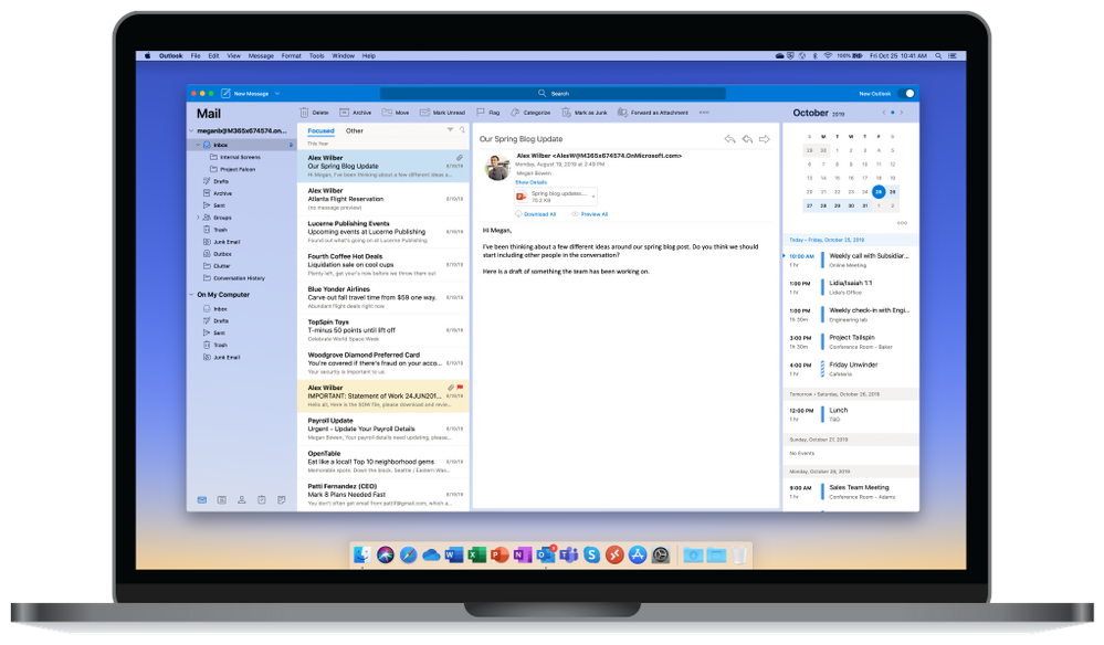 Microsoft unveils all-new Outlook for Mac, ribbon replaced with a simple toolbar 1