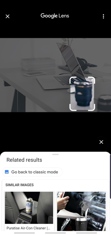 google lens image search on Android