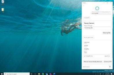 Cortana as a productivity aid