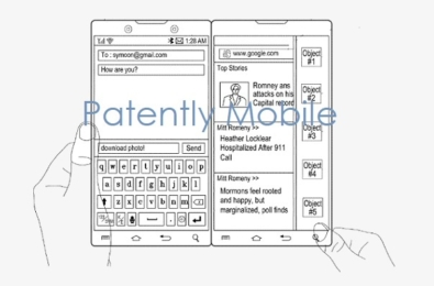 samsung dual-screen smartphone patents