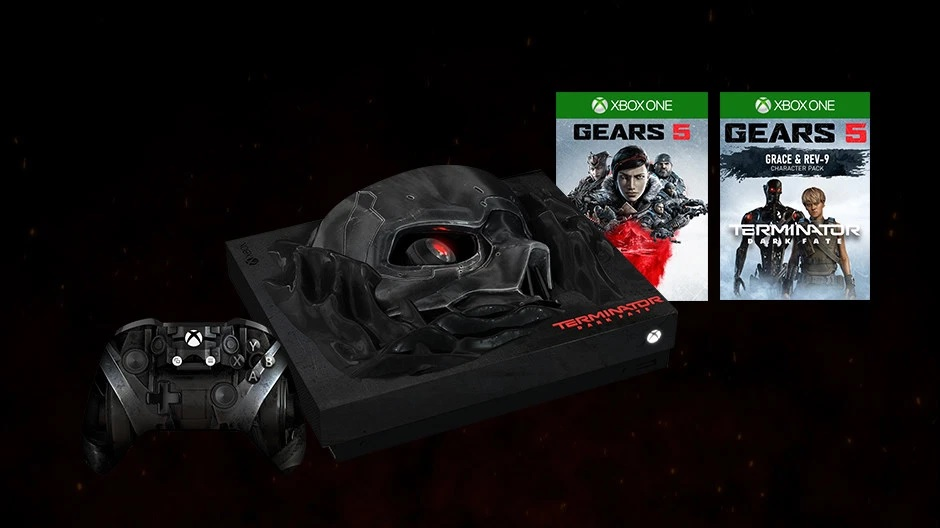 Enter now to win an extremely limited edition Terminator: Dark Fate Xbox One X! 1