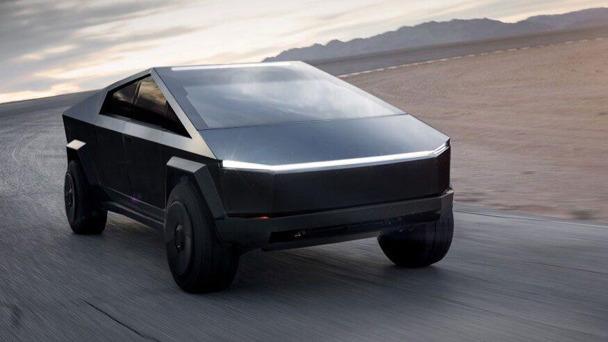 Tesla Cybertruck In Black And Tesla Cybertruck In White To Be