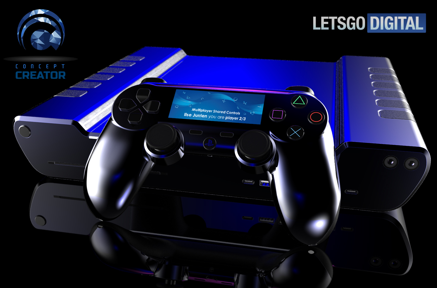 playstation 5 controller renders show off wii u styled touchscreen mspoweruser. Black Bedroom Furniture Sets. Home Design Ideas