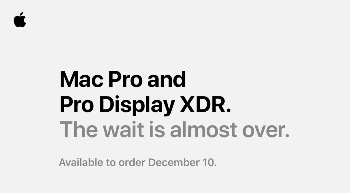 Apple's Mac Pro and Pro Display XDR will be available for order on December 10 1