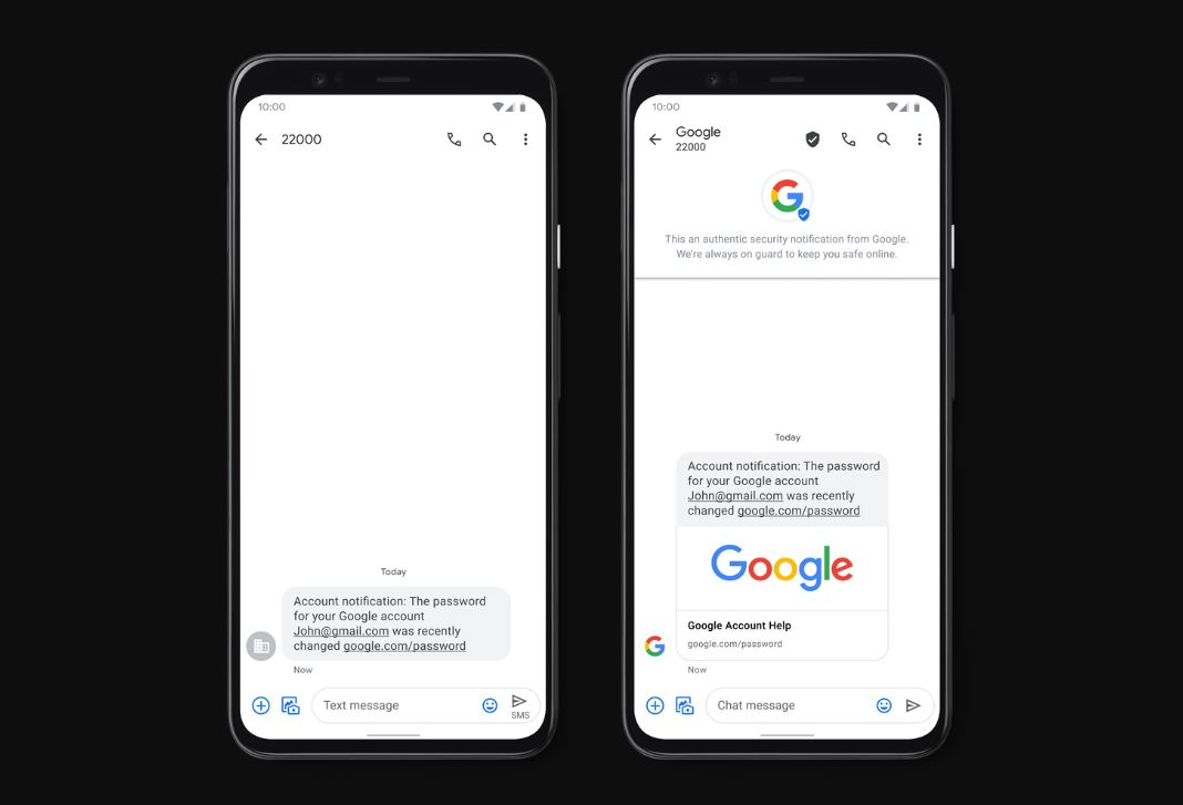 Google's Messages app gets Verified SMS and real time Spam Protection features