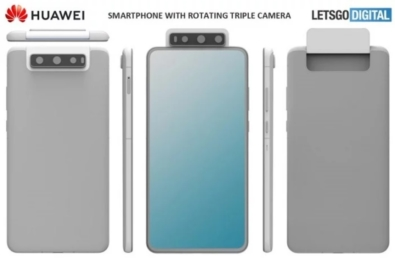 Huawei files a patent for a smartphone with triple flip camera 6