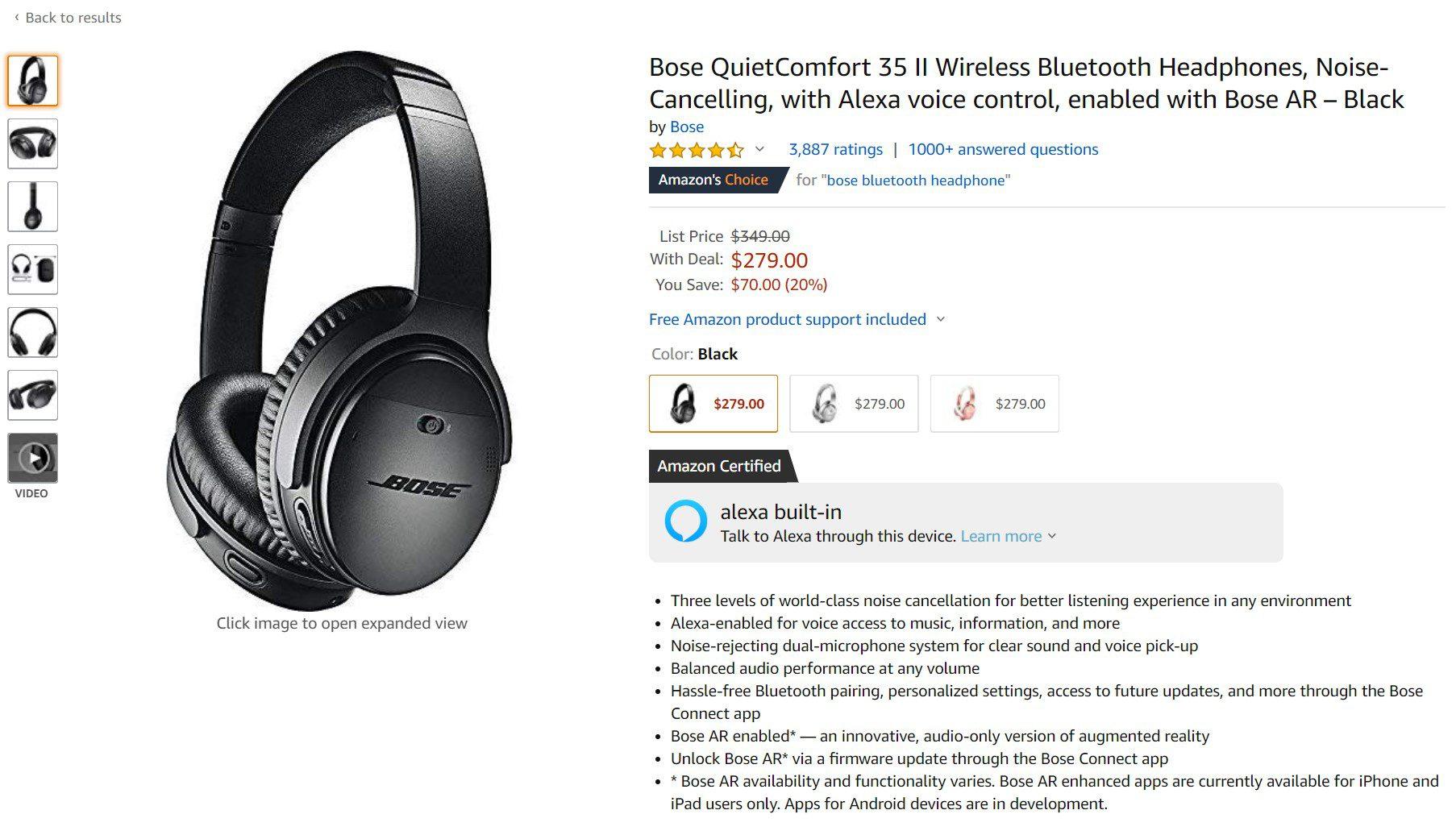 Deal Alert: Bose QC 35 II wireless headphones receive a handsome discount at Amazon 1