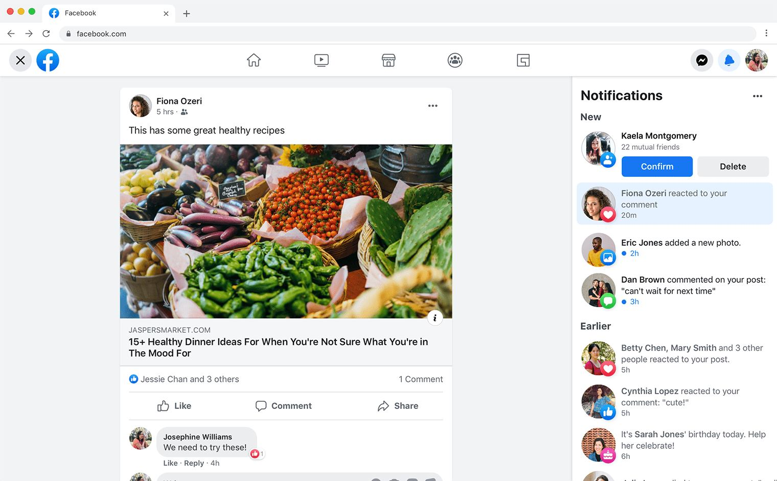 Facebook is rolling out the new design for its website to selected users 1