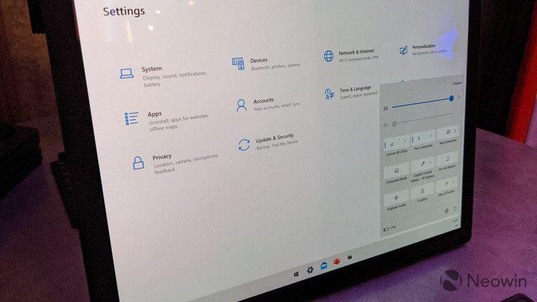 First look at the Lenovo ThinkPad X1 Fold running Windows 10X 3
