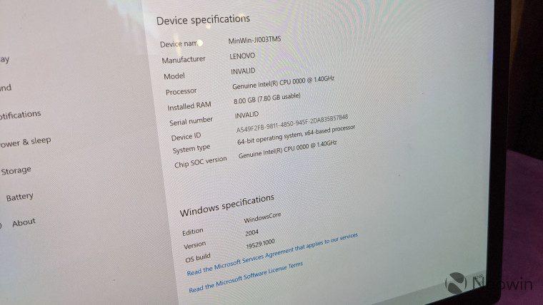 First look at the Lenovo ThinkPad X1 Fold running Windows 10X 4