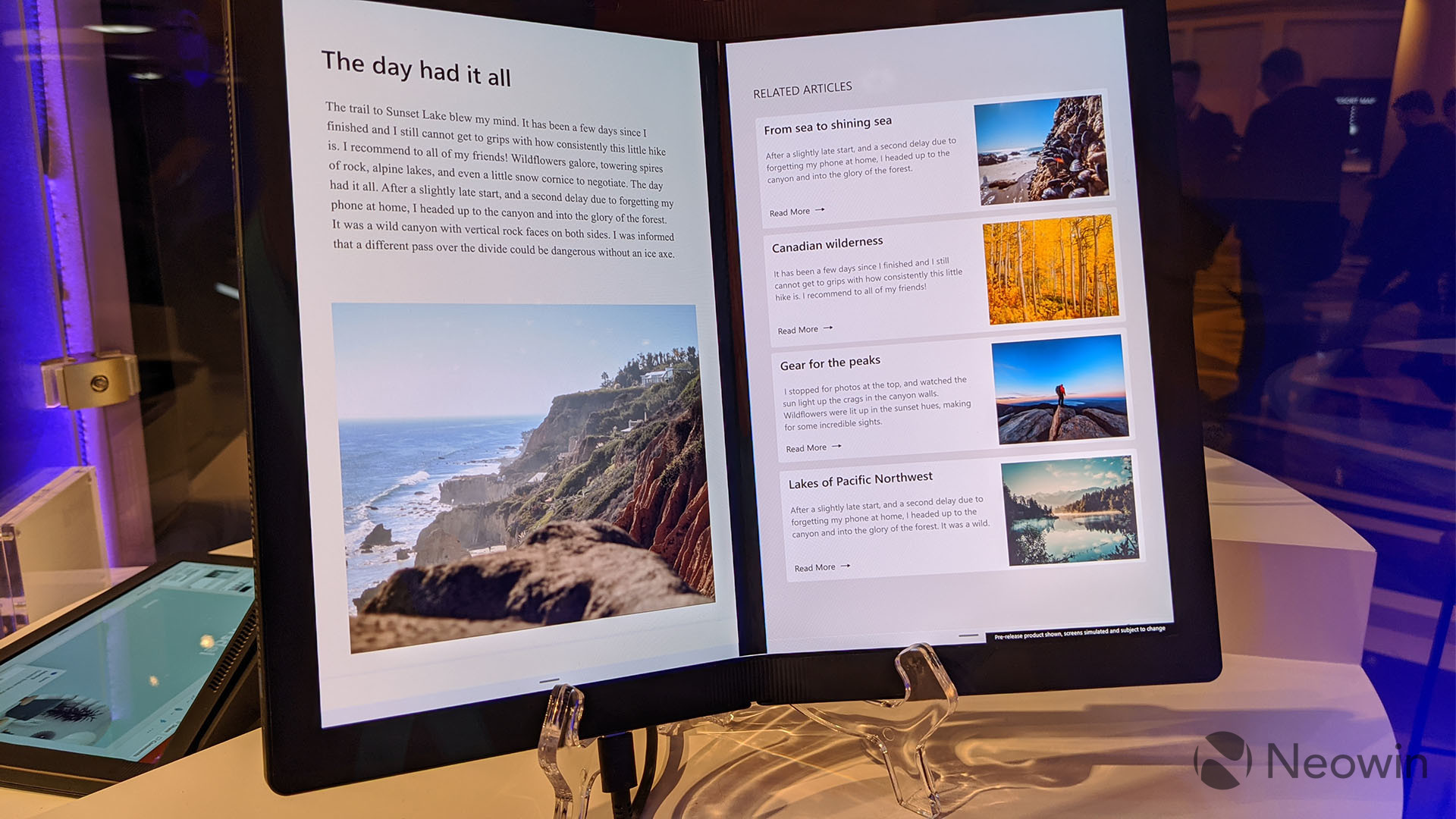 First look at the Lenovo ThinkPad X1 Fold running Windows 10X 5