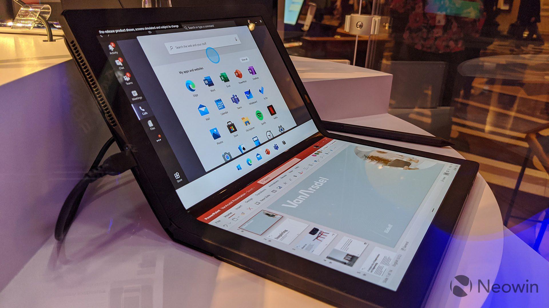 First look at the Lenovo ThinkPad X1 Fold running Windows 10X 7