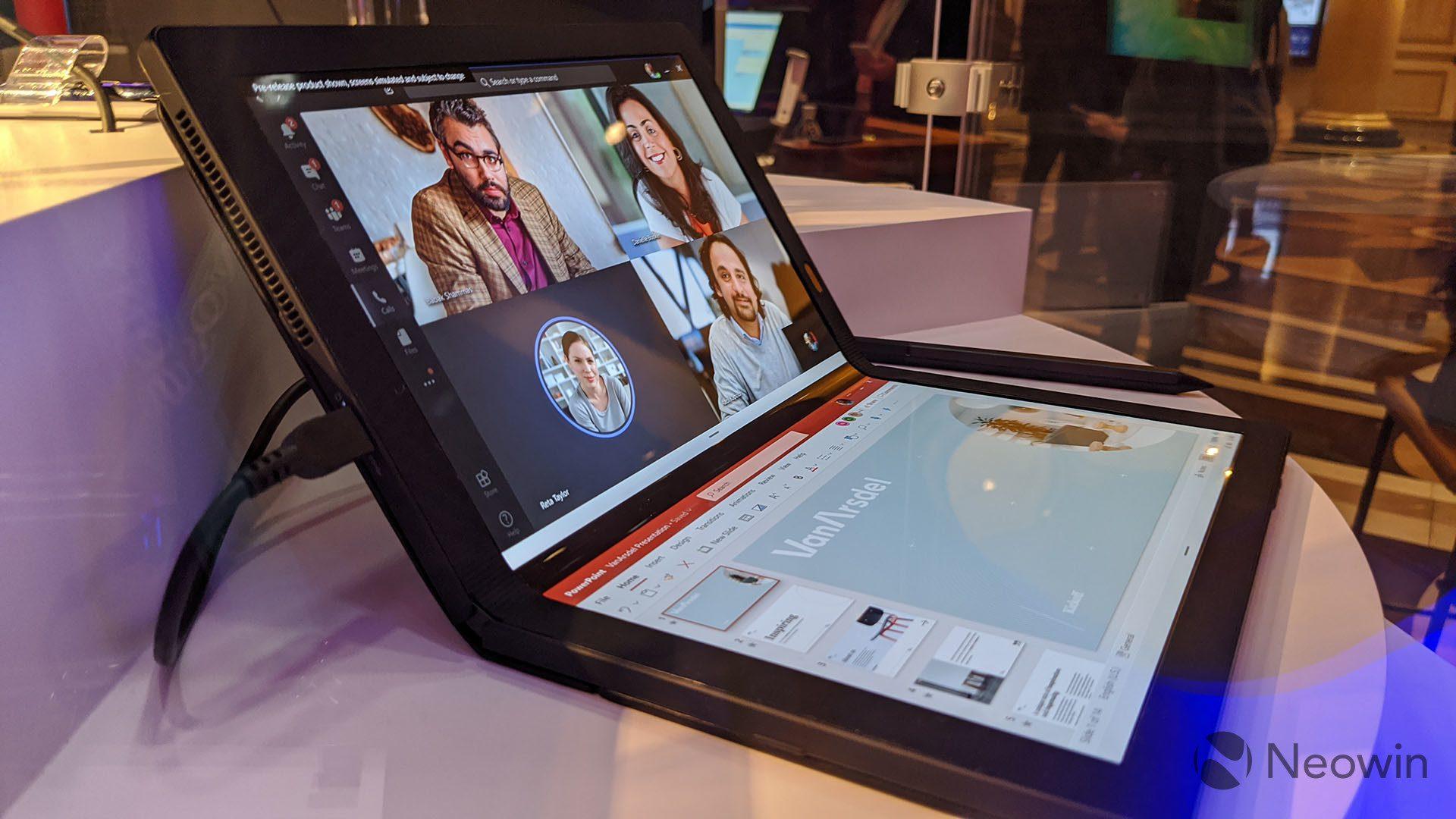 First look at the Lenovo ThinkPad X1 Fold running Windows 10X 9