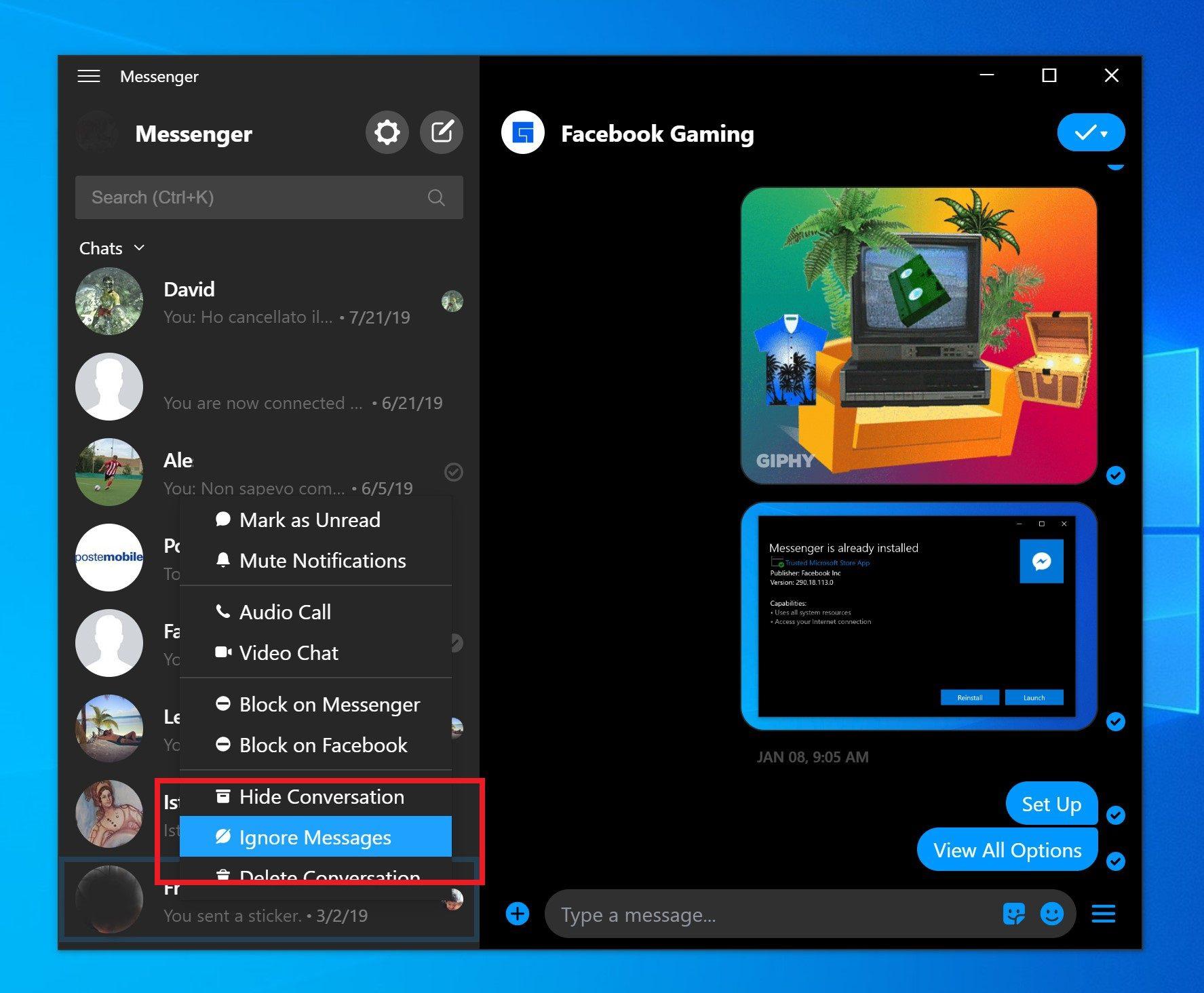 Setelah sambangi versi Beta, duo fitur baru ini telah tiba di versi publik  Facebook Messenger untuk Windows 10!