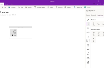 Microsoft makes it easy for students to input and make changes to math equations in OneNote 5