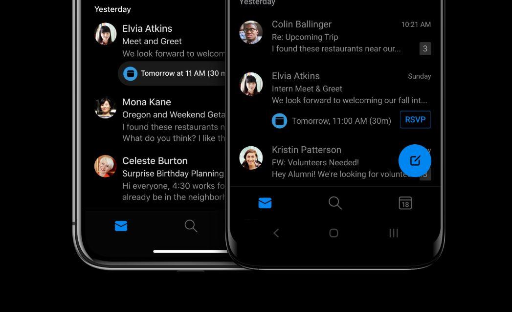 Outlook na Android i iOS uzyskuje nowy wygląd zgodny z duchem Fluent Design