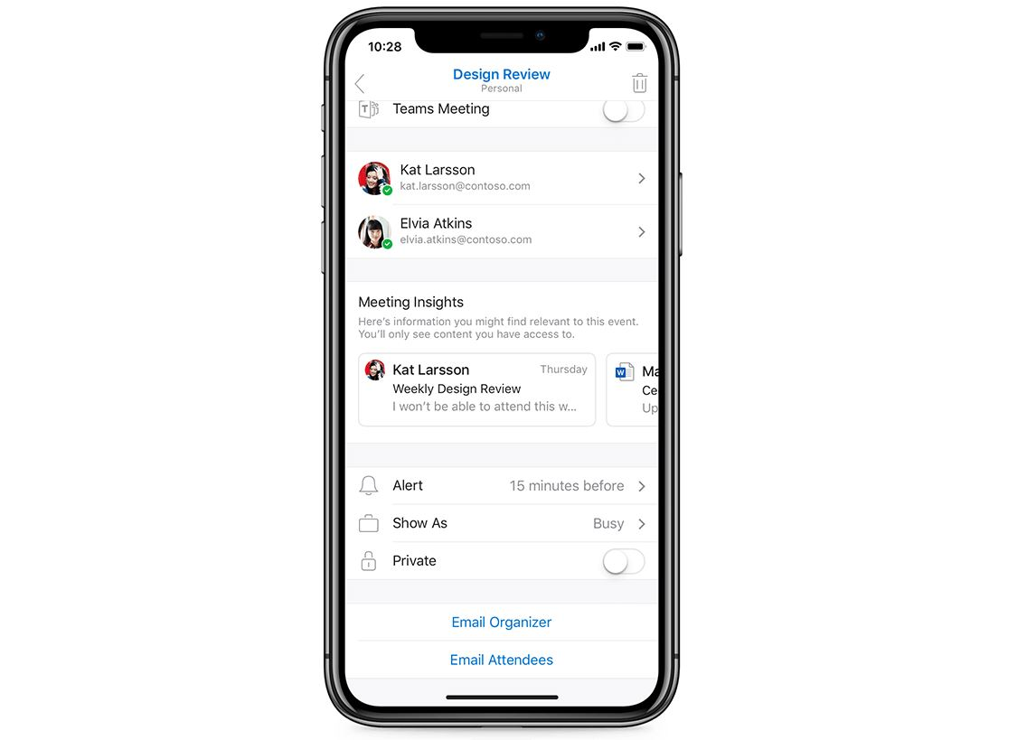 Outlook for iOS will soon get Suggested Replies, Meeting Insights and more 1