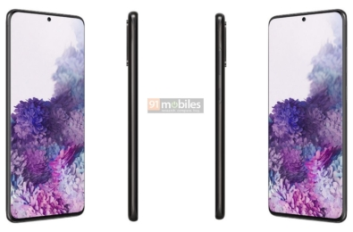 Renders of the Galaxy S20 series leak ahead of the official launch 7