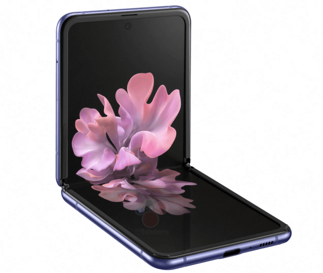 New Samsung Galaxy Z Flip high- resolution renders and new features leaked 5