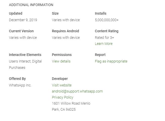 WhatsApp supera los cinco mil millones de descargas 1