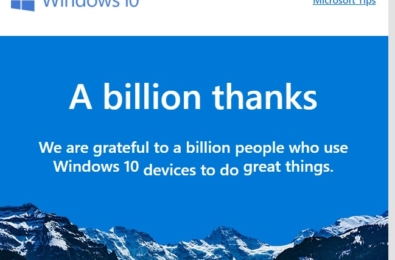 Official Microsoft site claims 1 billion Windows 10 users 1