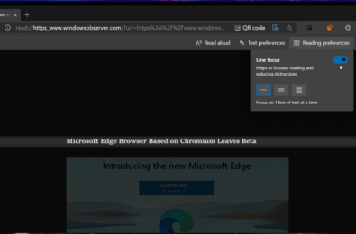 """""""Line Focus"""" feature now available on Edge Canary 11"""