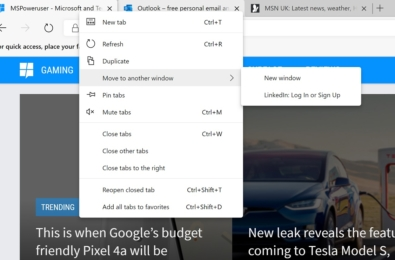 """Microsoft engineers are bringing Edge's """"Move tab to new Window"""" feature to Chrome 6"""