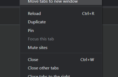 """Chrome Canary update now displays Edge's """"move tabs to new window"""" in tab context menu 4"""