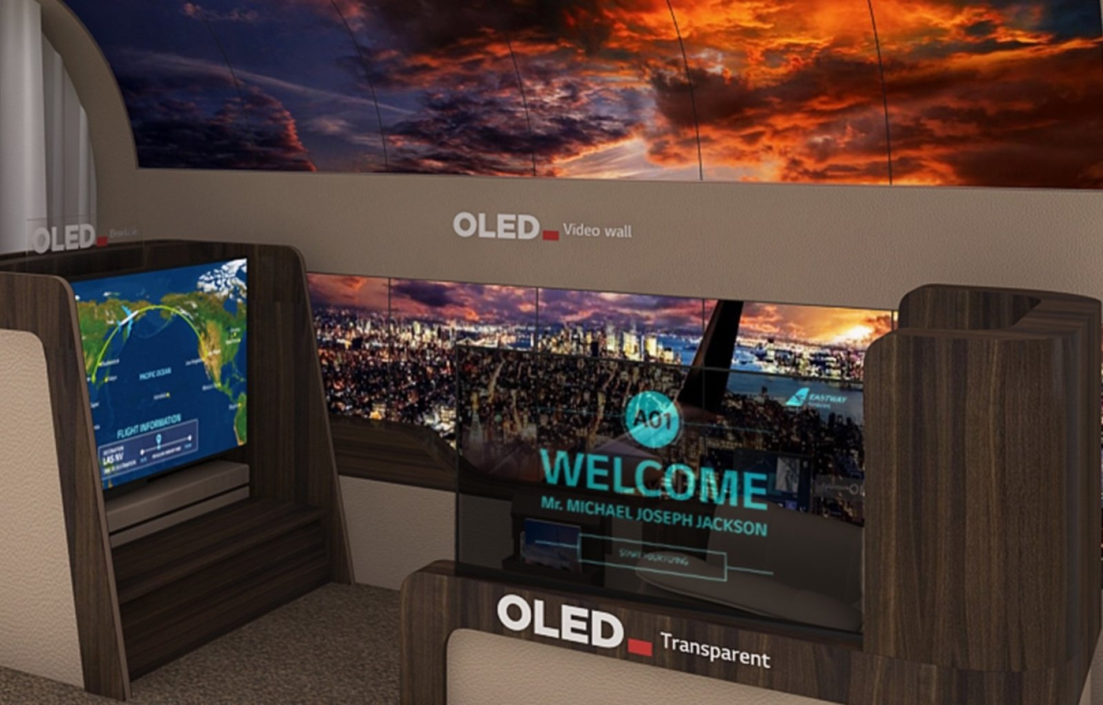 LG's new rollable OLED TV unfurls from the ceiling