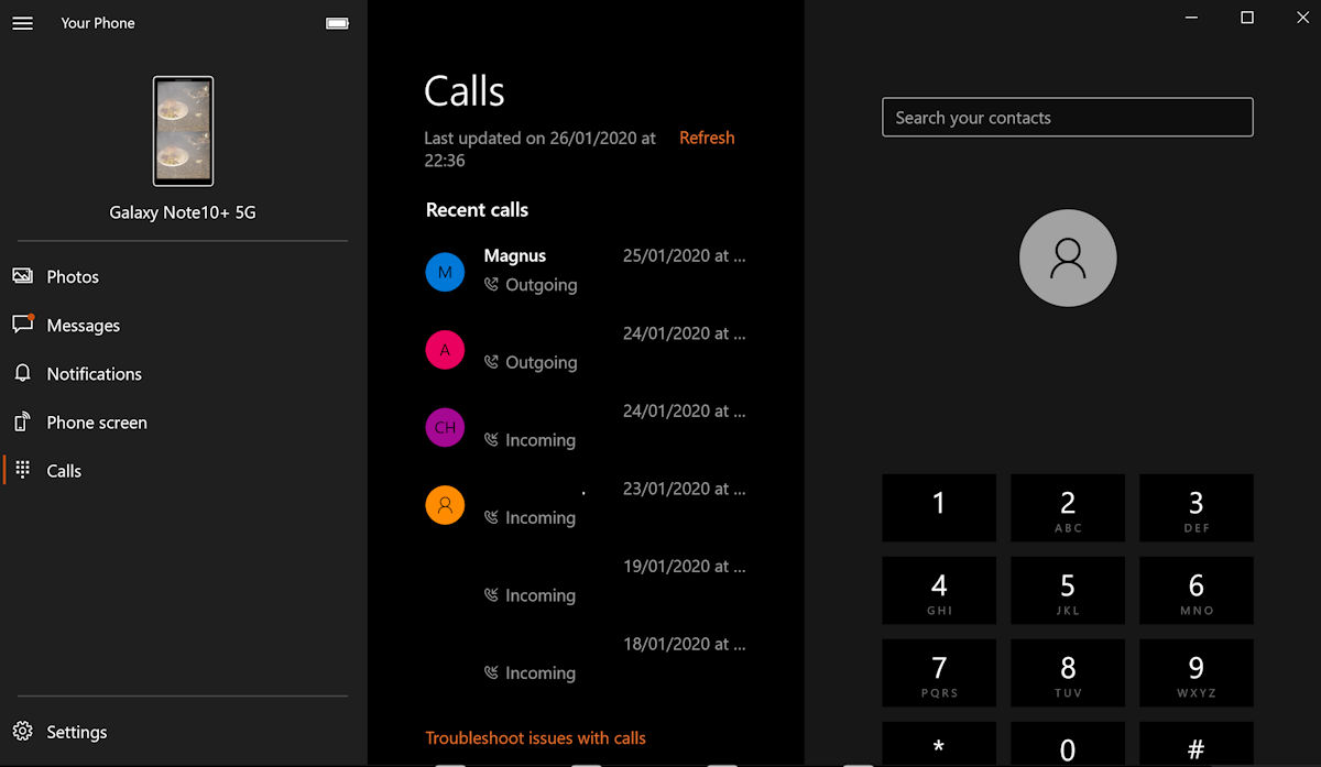 Phone calls in the Your Phone app now rolling out to regular Windows 10 users 4