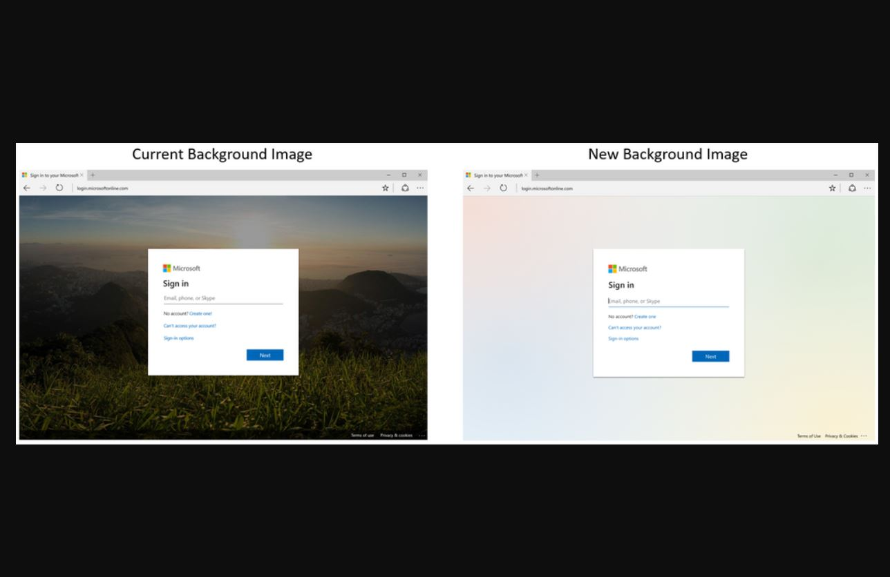 Microsoft announces new default background image on Azure AD and Microsoft 365 sign-in screens 1