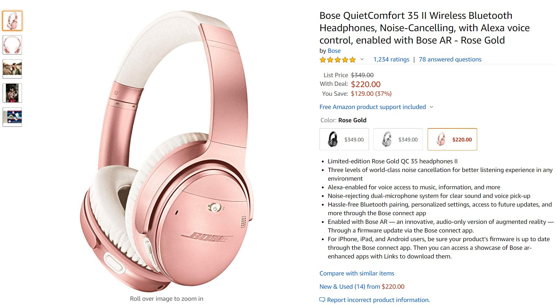 Deal Alert: Bose QC 35 II wireless headphones now selling at a record low price at Amazon 1