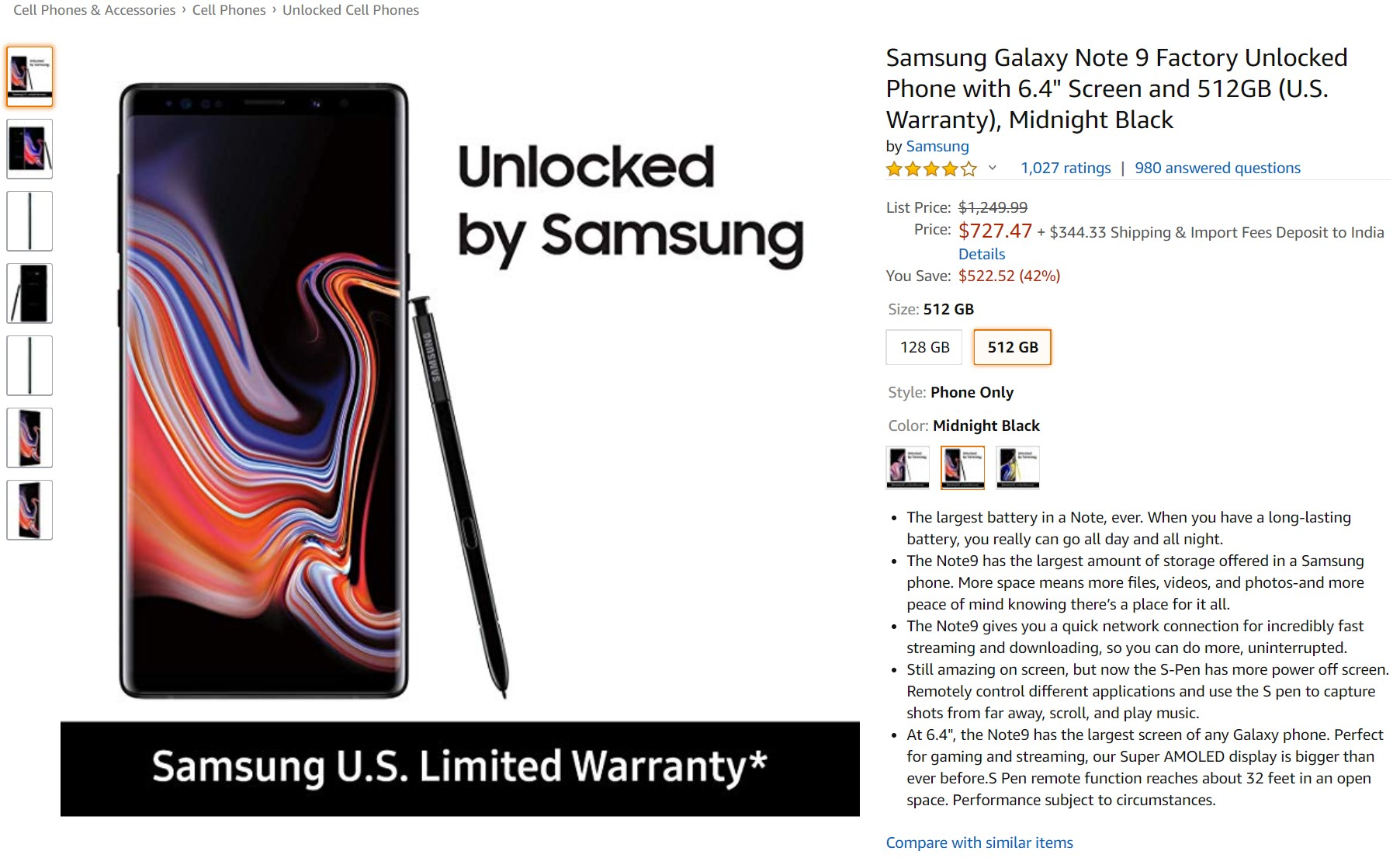 Deal Alert: Get a massive $522 discount on Galaxy Note9 purchase 1